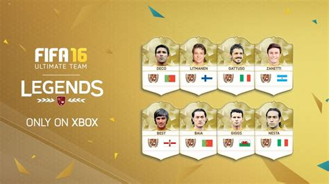 Brand new legends are coming to fifa ultimate team in fifa 16