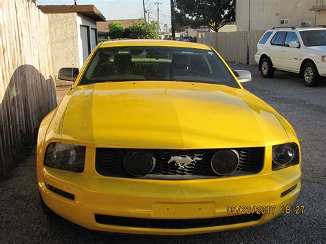 yellow mustang for sale 5th generation yellow 2006 ford mustang v6 for sale