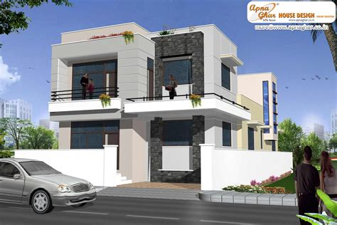 modern duplex 2 floor house design area 198m2 9m x