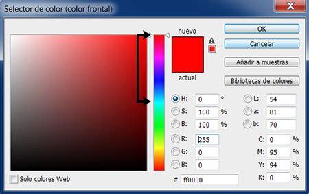0000ff color invertir colores en photoshop efectosps