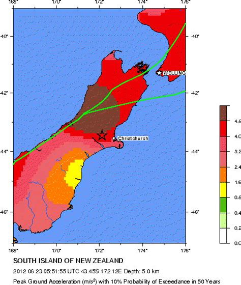earthquake zones nz usgs earthquake hazards program seismic hazard map south
