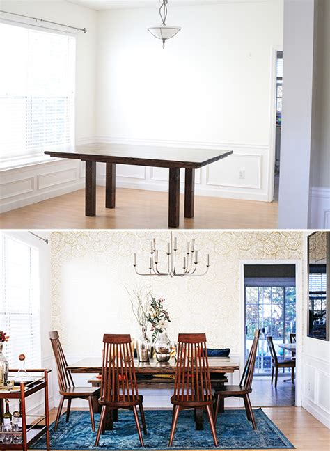 Dining Room Makeovers Before And After Before And After Dining Room Makeover Reveal In Honor Of