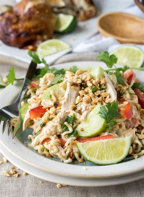 thai pasta salad thai chicken pasta salad i wash you dry