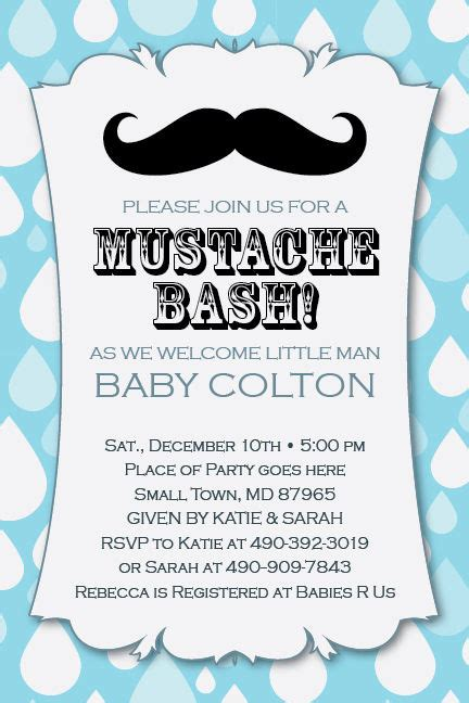 baby invite template mustache bash printable 1st birthday baby