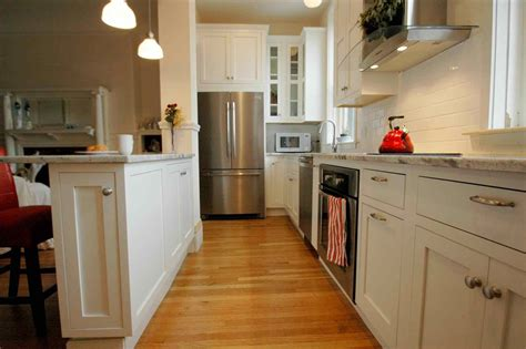 Painting Ideas For Dining Room galley kitchen remodel before and after wall removal