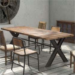 Eclectic Dining Tables Zuo Era Steel And Reclaimed Wood Table Eclectic Dining Tables New York By Matthew Izzo