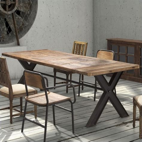eclectic dining tables zuo era steel and reclaimed wood table eclectic