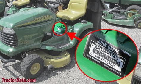 jd id tractordata com john deere lt160 tractor information