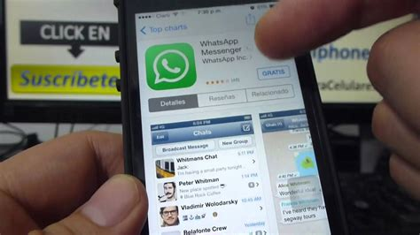 tutorial de whatsapp para iphone como descargar whatsapp iphone gratis para iphone 5s 5c 5