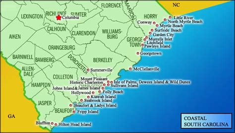 and south carolina beaches map map of south carolina coast south carolina i live here