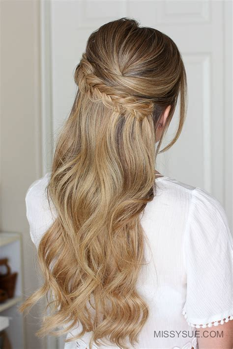 half up hairstyles for hair easy half up prom hair fsetyt