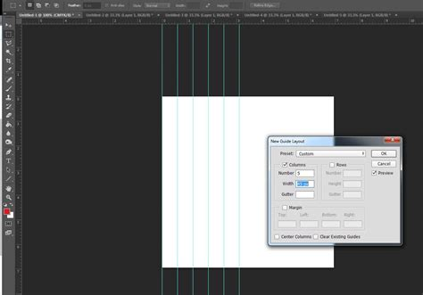 guide layout photoshop cc photoshop how to draw a guide with an exact distance from