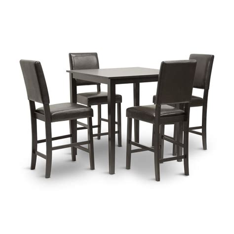 Studio Dining Table Set Shop Baxton Studio Wenge 5 Dining Set With Counter Height Table At Lowes