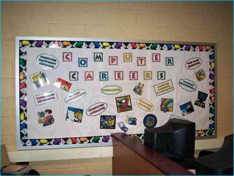 classroom themes for computer lab very creative computer lab bulletin board decoration ideas