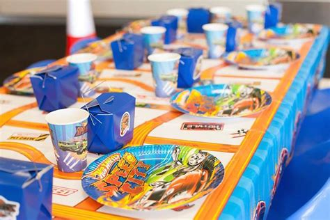 hot party themes 2015 kid s dining table from a hot wheels car birthday party