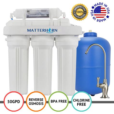 Sink Osmosis Water Filter System by Matterhorn 5 Stage Sink Superior Osmosis