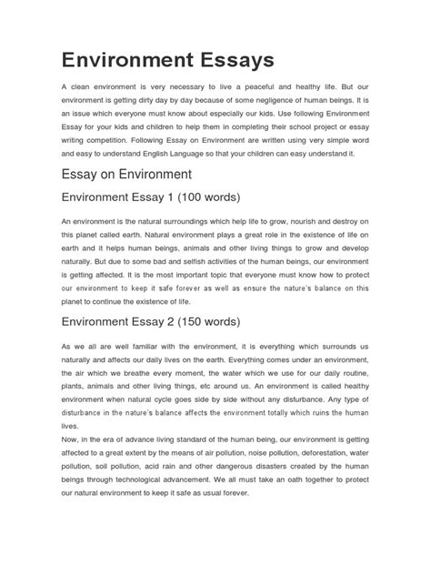 Essay On Global Warming In 100 Words by Essay On Pollution For