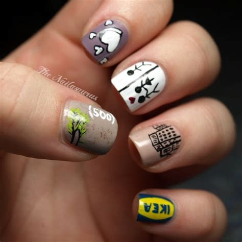 ikea nails 500 days of summer awesome nails image 519325 on