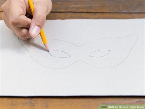 How To Make A Paper Mask Step By Step - how to make a paper mask 14 steps with pictures wikihow
