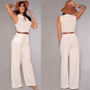 cheap ladies sleeveless white jumpsuits for women online