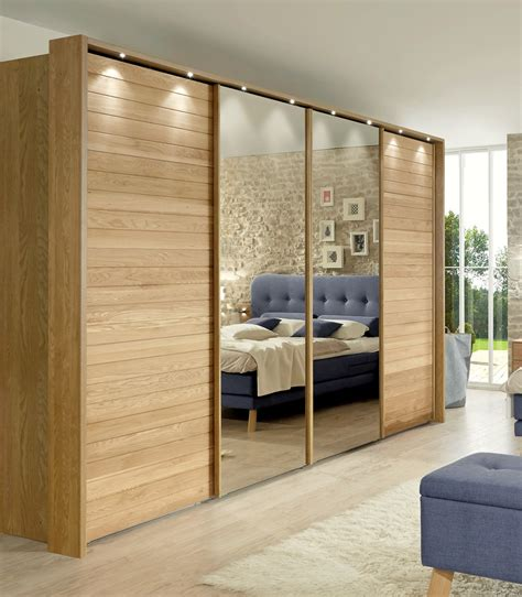 Mirror Sliding Door Wardrobe by Modern Wardrobes 187 Jupiter By Stylform Semi Solid Oak