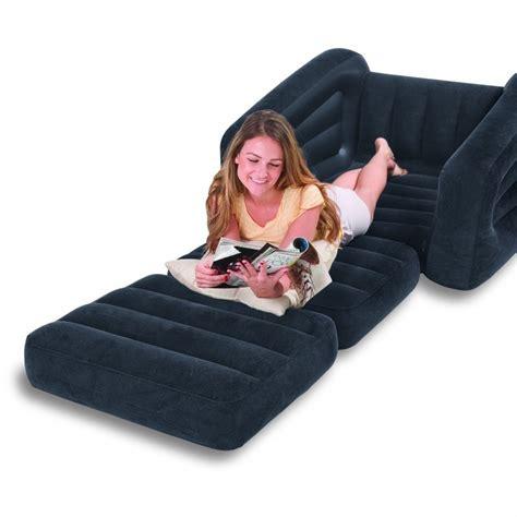 sofa inflable intex sofa cama personal sencillo inflable intex negro