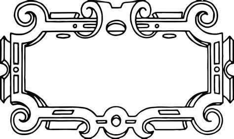 printable vector art free vector ornate frame border clip art image oh so