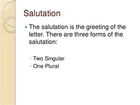 business letter salutation plural modern business letter