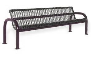belson benches steel contour bench with back diamond pattern belson