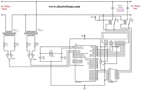 microcontroller based inverter circuit diagram gt circuits gt automatic power factor controller using