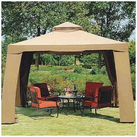Big Lots Patio Gazebos View Avalon 10 X 10 Gazebo With Netting Deals At Big Lots Cing Gazebo