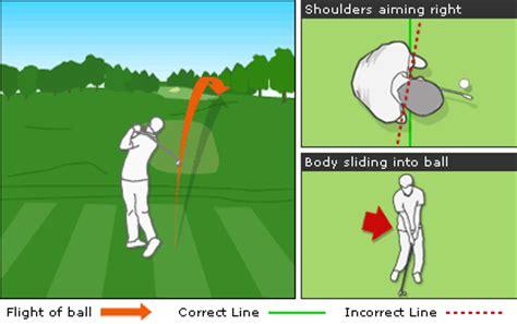 golf swing push bbc sport golf skills get rid of the push shot