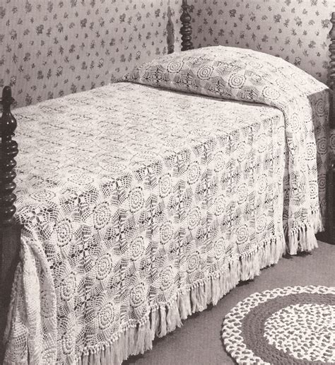 crochet coverlet pattern free crochet pattern bedspread popcorn crochet and