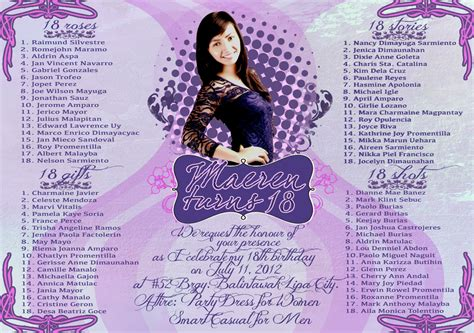 Exle Of Invitation Letter In Debut Maeren S Debut Invitation By Cesmendoza On Deviantart