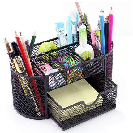 Finite Stationery Set In Tin Pencil Fancy Stationery Set creative desk stationery holders decorative pen holders office desk sccessories metal mesh