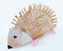hedgehog paper plate craft similar to what we did last autumn for a hedgehog craft