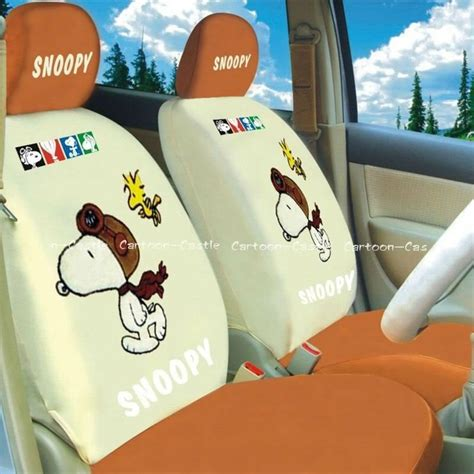 Snoopy Front peanuts snoopy auto car front rear seat cover coat snoopy