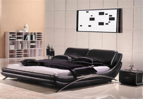 Black Full Bedroom Set modern leather bedroom ae82 modern bedroom furniture