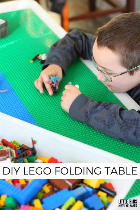 Lego Table For by Folding Lego Table Diy Project With Peel And Stick Base Plates