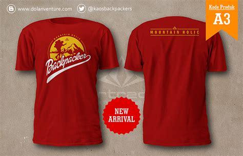Kaos Distro A Untuk Jakarta Merah jual kaos backpacker indonesia