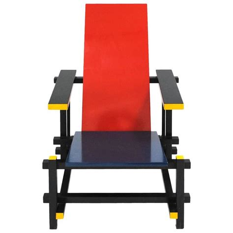 And Blue Chair And Blue 365 Chair By Gerrit Rietveld For