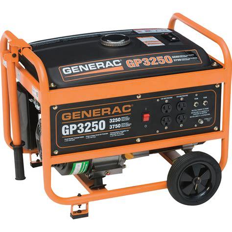 free shipping generac gp3250 portable generator 3750