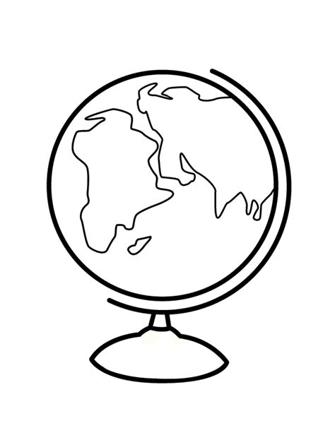 coloring page of a globe coloring pages globe az coloring pages