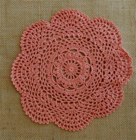 Handmade Crochet Doilies - 8 quot handmade cotton crochet doilies roseate 2 pack