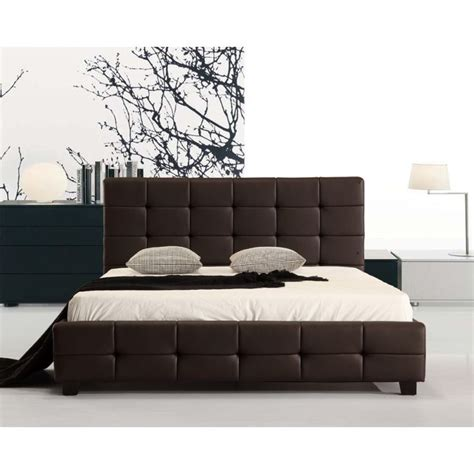 Pu Bed Frame Pu Leather Deluxe Bed Frame Brown Buy Bed Frame