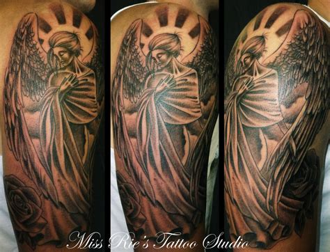 angel tattoo on shoulder tattoos designs ideas page 4