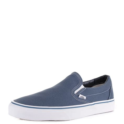 Vans U Classic Slip On Navy Original Bnib Murah Sepatu Casual Sneakers womens mens vans classic slip on navy canvas casual shoes