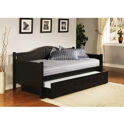 Daybed With Trundle Staci Daybed With Trundle Black Walmart