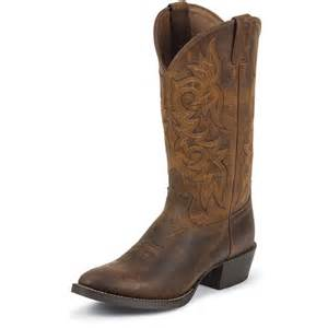 Handcrafted Kitchen Knives Shop Men S Justin Rugged Tan Cow Cowboy Boots