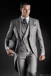 To Groom Sle cheap custom made handsome mens wedding suit charcoal grey